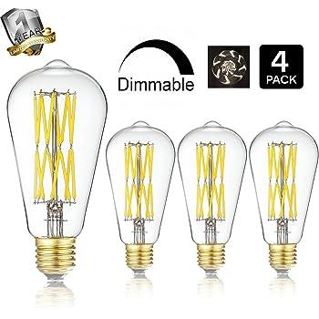 A19 Led filament bulb ...100w Equivalent Soft White A19 Led Light Bulb