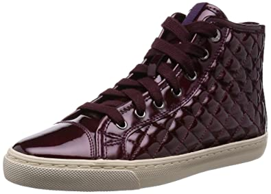 D New Club A, Damen Hohe Sneakers, Bordeaux, 39 EU Geox
