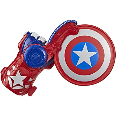 Avengers NERF Power Moves Marvel Captain America Shield Sling NERF Disc-Launching Toy for Kids Roleplay, Toys for Kids Ages 5 and Up: Toys & Games