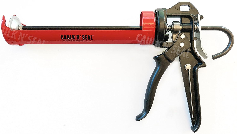 Heavy Duty, Revolving Frame Caulking Gun, 1/10-Gallon Cartridge Capacity, 23:1 Thrust Ratio