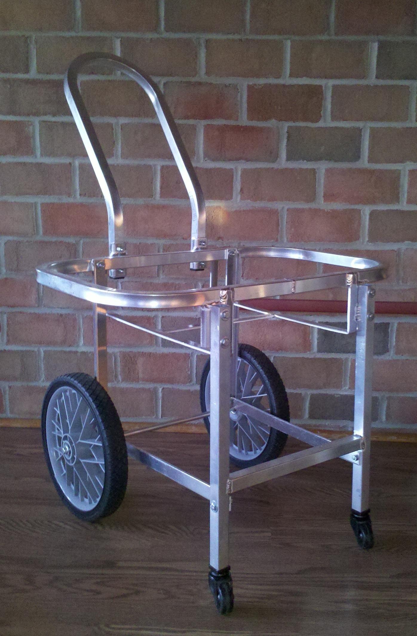 Aluminum Amish Built Laundry Cart w/Castors - Moves w/Ease!