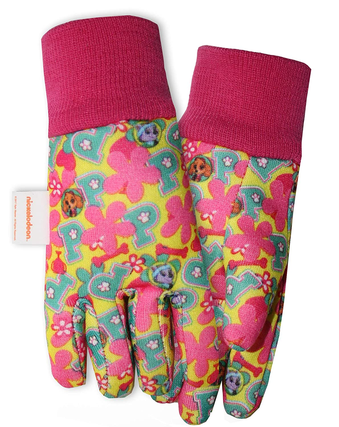 Midwest Gloves & Gear PWG102T Paw Patrol Girls Jersey Garden Toddler Gloves, Multicolor