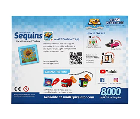 Amazon com: smART Pixelator Large Sequin Set: Toys & Games