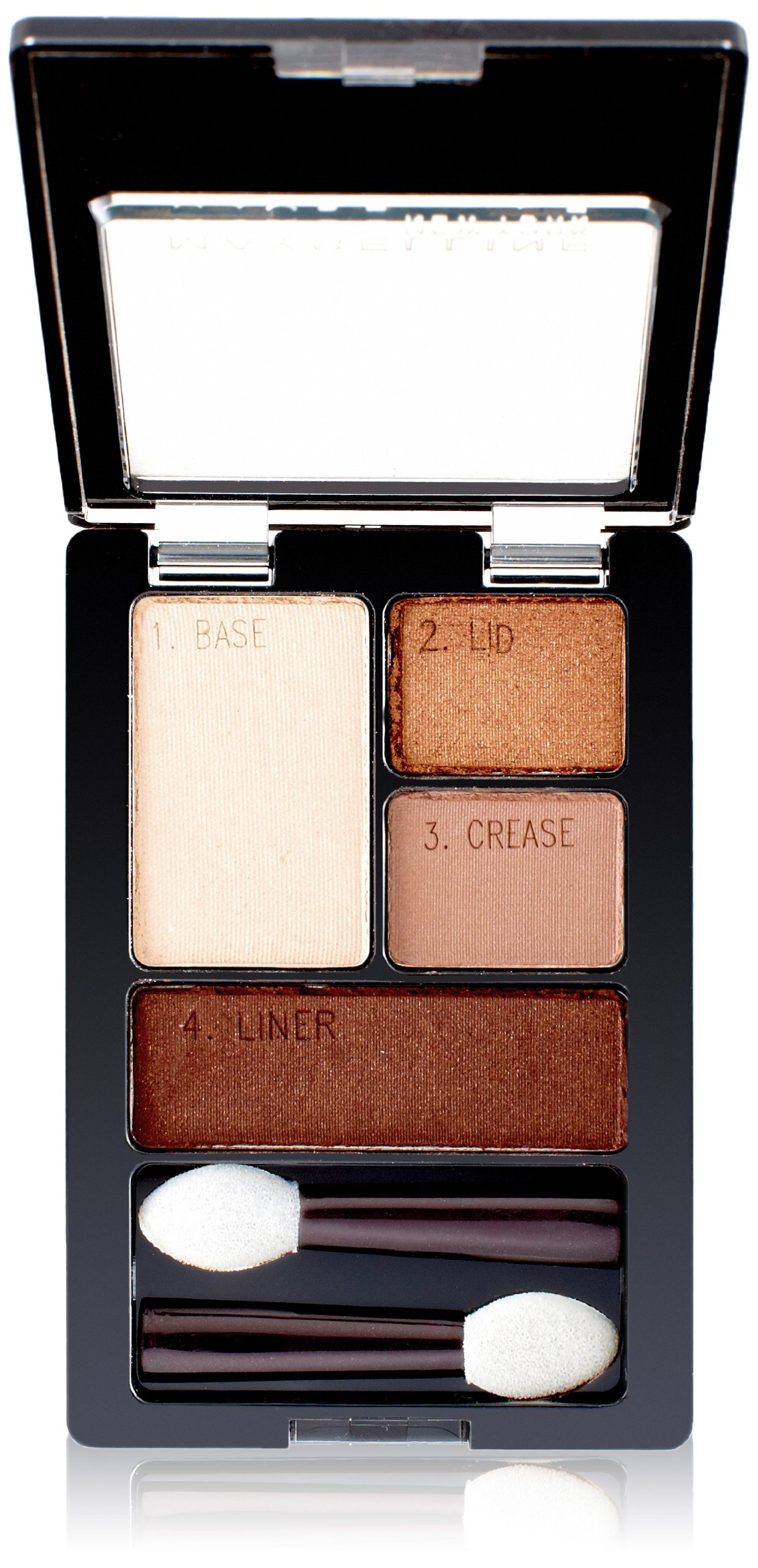 Maybelline Expert Wear Eyeshadow Quads, Chai Latte, 0.17 oz.