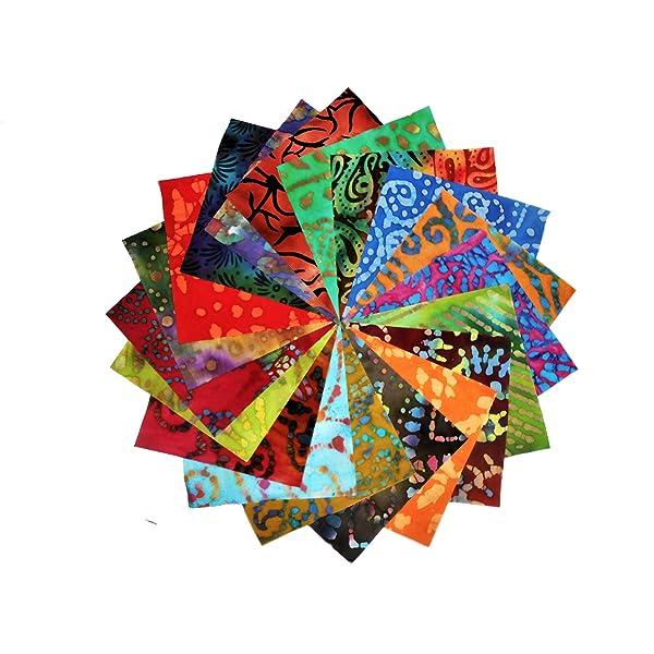 Timeless Treasures Carnivale Tonga Batiks Shortcake 20 Ten Inch Squares