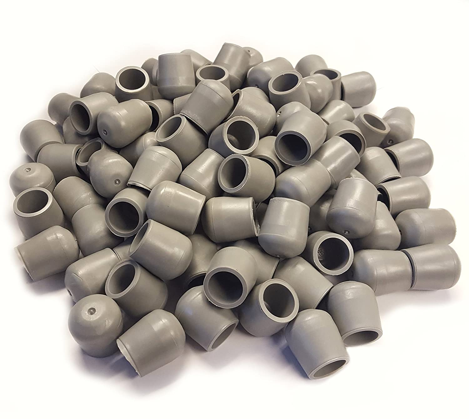 100 pk Replacement Foot Cap Glides for Rental Style Plastic