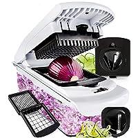 Fullstar Vegetable Chopper - Spiralizer Vegetable Slicer - Onion Chopper with Container...