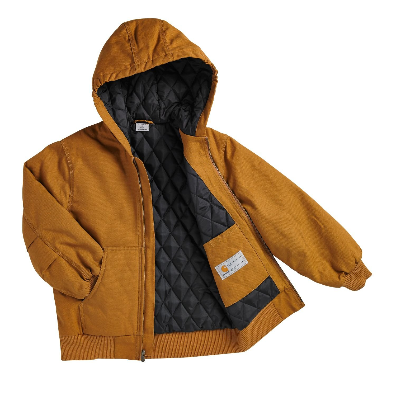 Carhartt Brown Carhartt Little Boys Work Active Jacket X-Small//6 LT Apparel Parent Code CP8489BRN-XSMREG