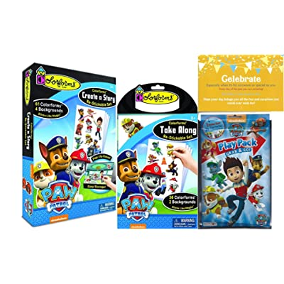 Colorforms Paw Patrol Create a Story, Take Along Restickable Set: Toys & Games