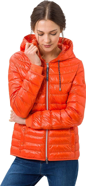BRAX Olbia, Leichtdaunenjacke Blouson Femme Orange (Orange 48)