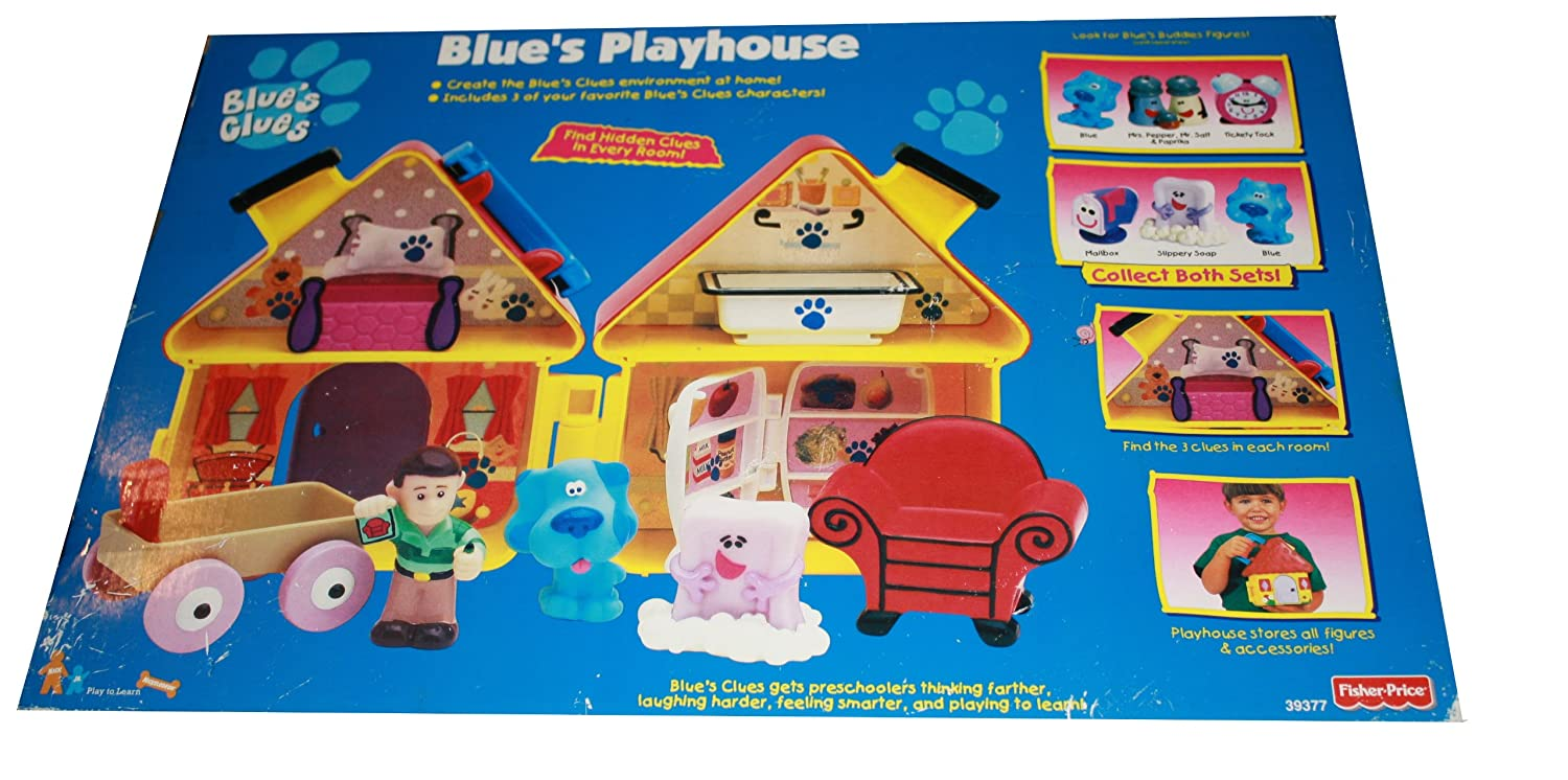 amazon com blue u0027s clues blue u0027s playhouse includes blue