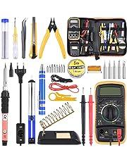 Kit de Soldador Estaño con Multímetro 24 Piezas, Kit de Soldadura Completo para Trabajos de Soldadura, Eléctrico, Joyería ET007