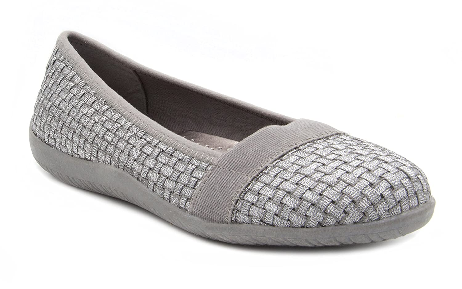 London Fog Womens Aldgate Woven Stretch Casual Shoe B074WD5XWN 8.5 B(M) US|Silver