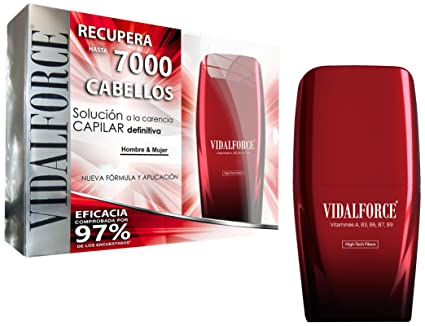 VidalForce Fibras Capilares Negro 25 gr Engrosador y voluminizador de cabello