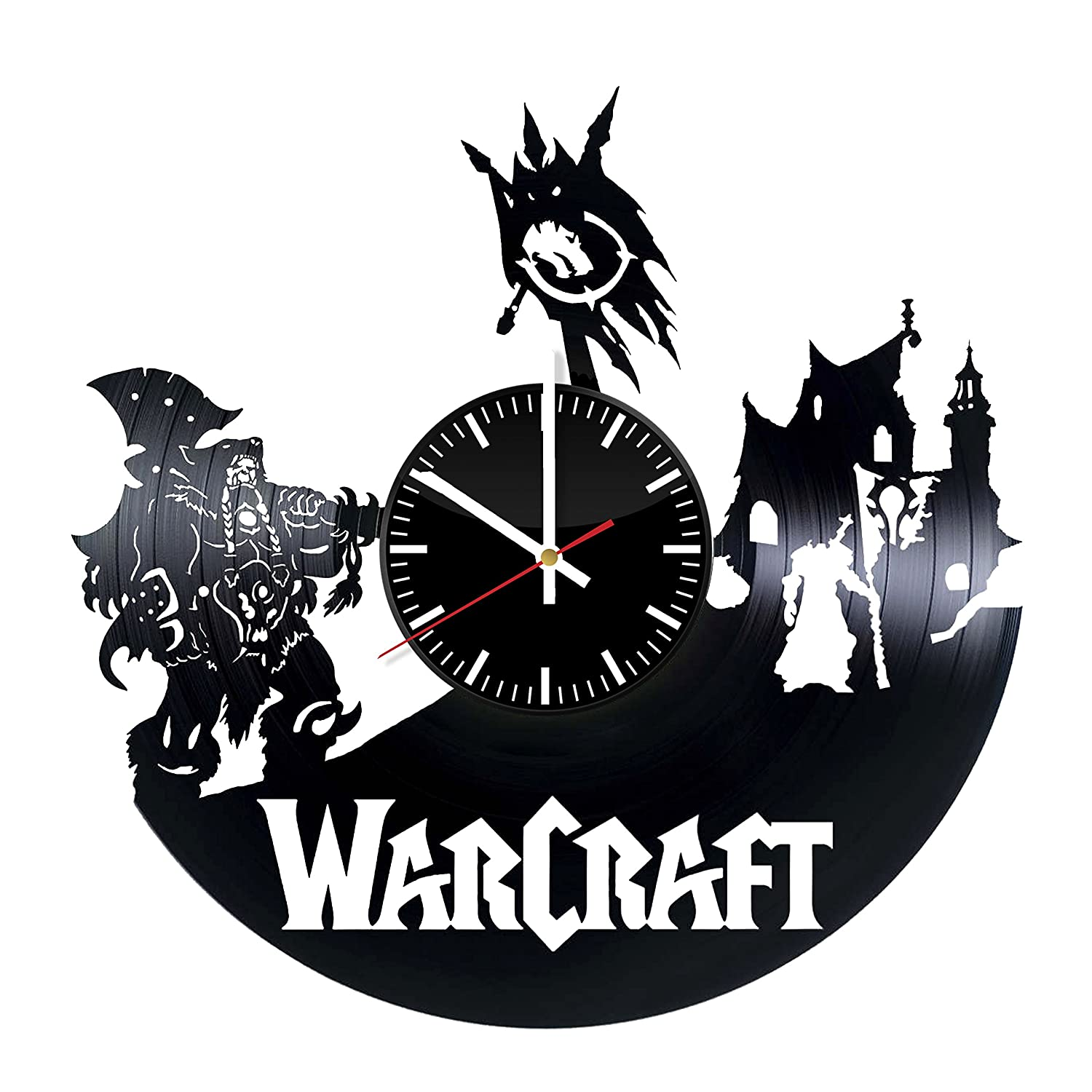 WarCraft Vinyl Records Wall Clock - Wall Art Room Decor Handmade Decoration  Party Supplies Theme Birthday Gift For Adults Men Women - Vintage And  Modern ...