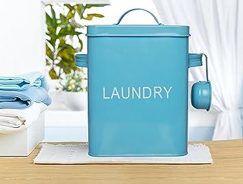 Amazing Laundry Detergent Storage Washing Soda Box, 4 FREE Mesh Bags, Laundry Room  Decor,