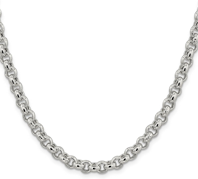 Italy 925 Sterling Silver Rolo Link Bracelet 8