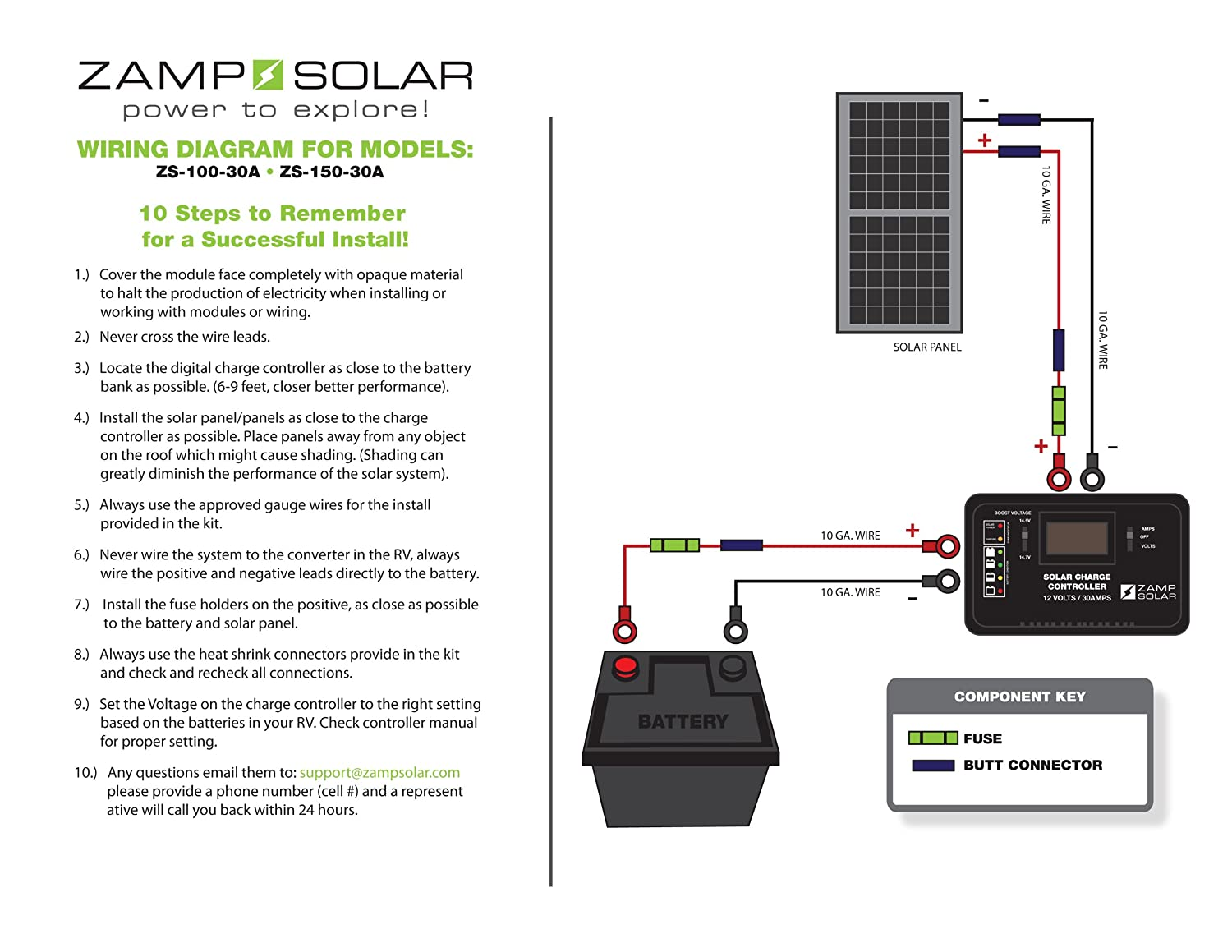 Zamp Solar 150 W Rv Akku Ladegert Charge Controller Auto Wiring Panels To Battery Bank