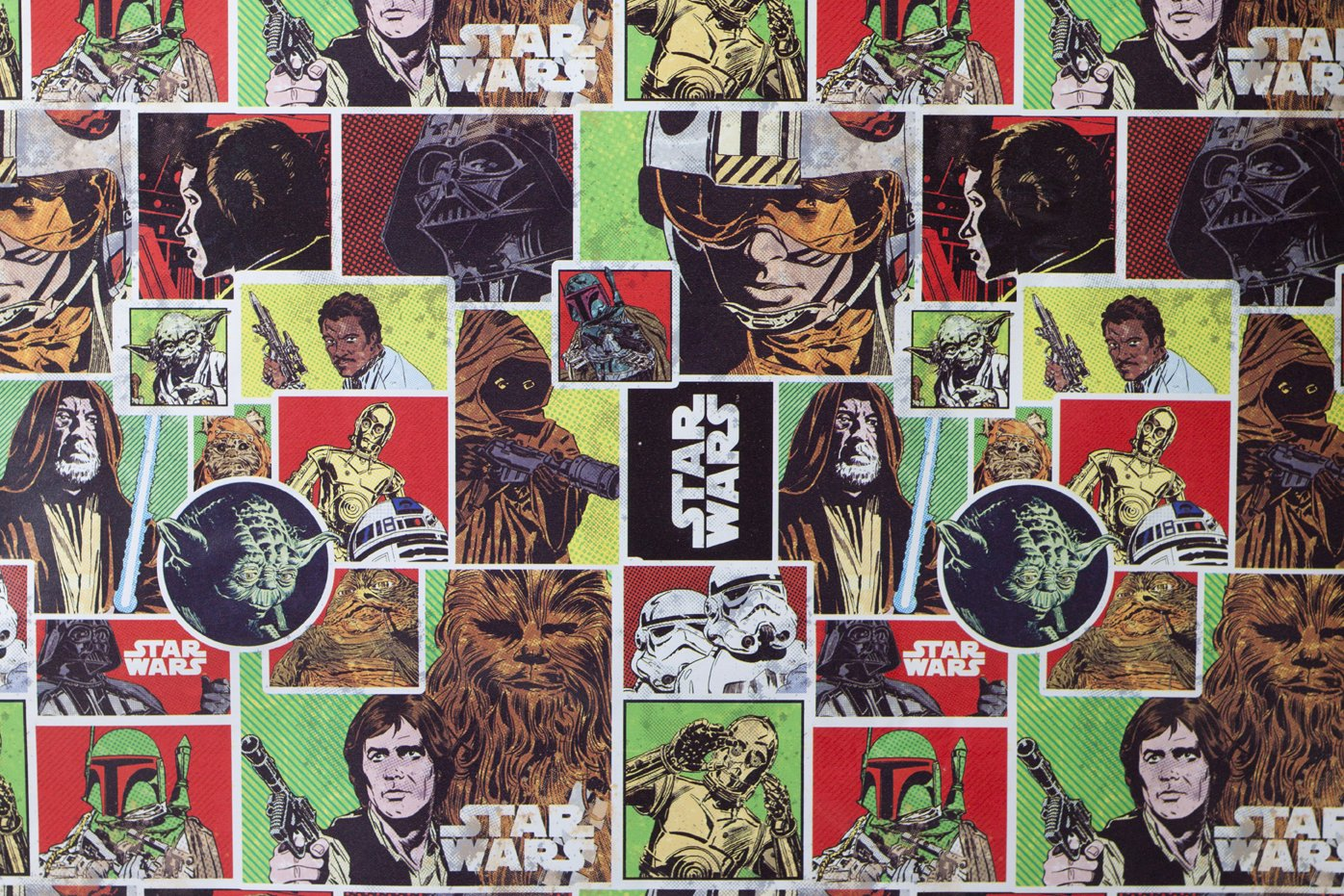 Amazon.com: Star Wars Christmas Gift Wrap Wrapping Paper Classic ...
