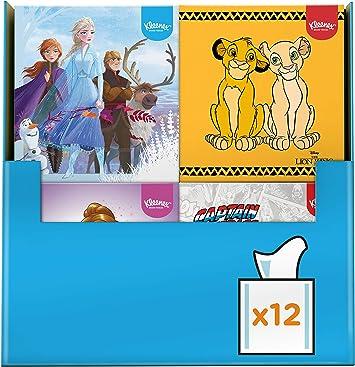 Kleenex 3417812 Disney pañuelos de papel, cuadrada, Cars/Marvel/Princesses – Pack de 12 cajas: Amazon.es: Salud y cuidado personal