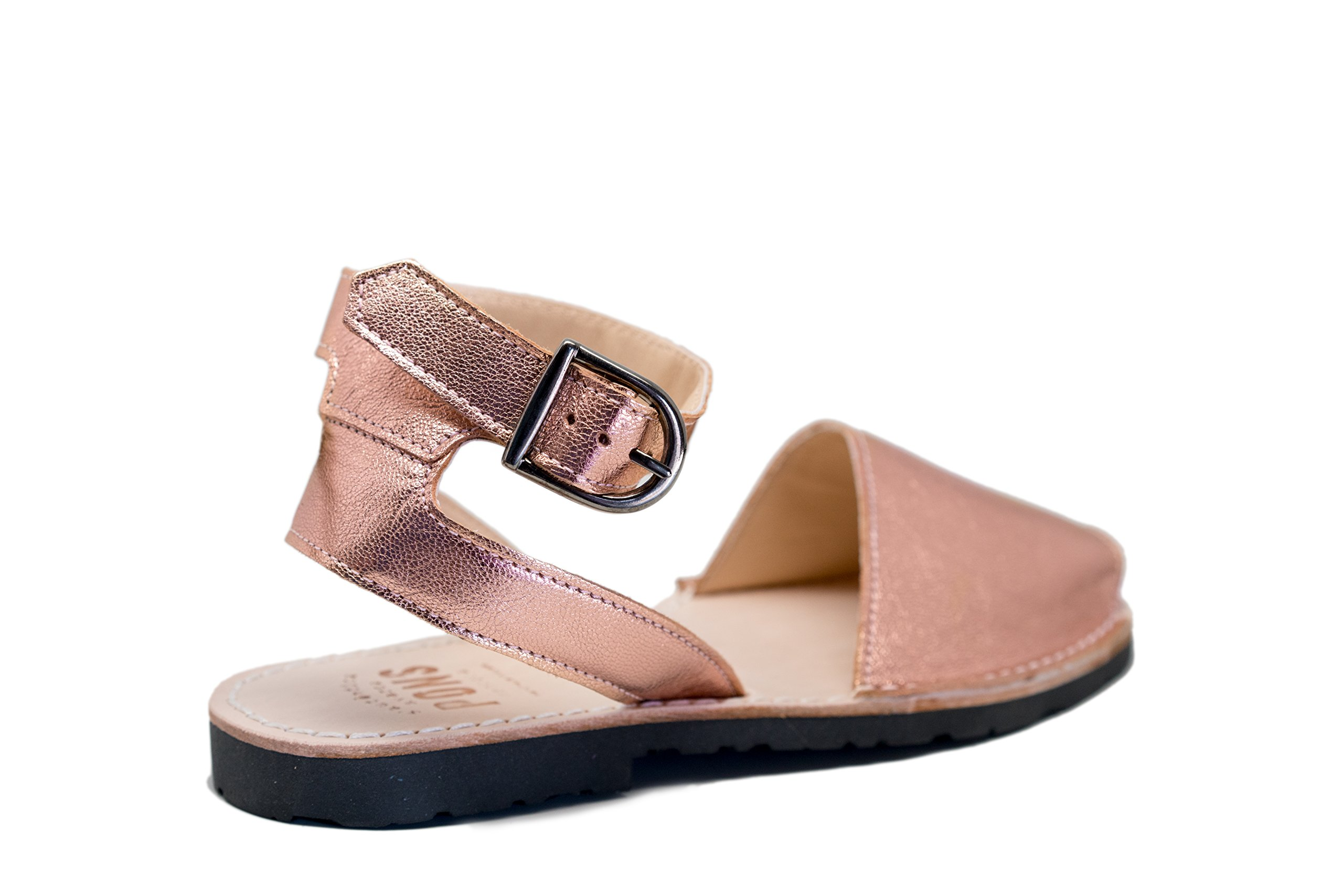Pons 521A - Avarca Classic Style Strap Metallic - Rose Gold - 40 (US 10)