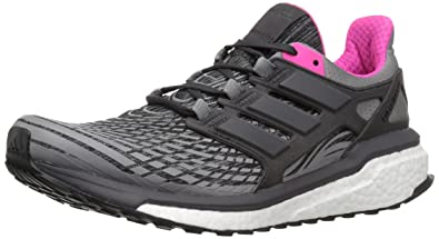 wholesale dealer 8591b ba36b adidas Women s Energy Boost w Running Shoe, Three Utility Black Grey Four,