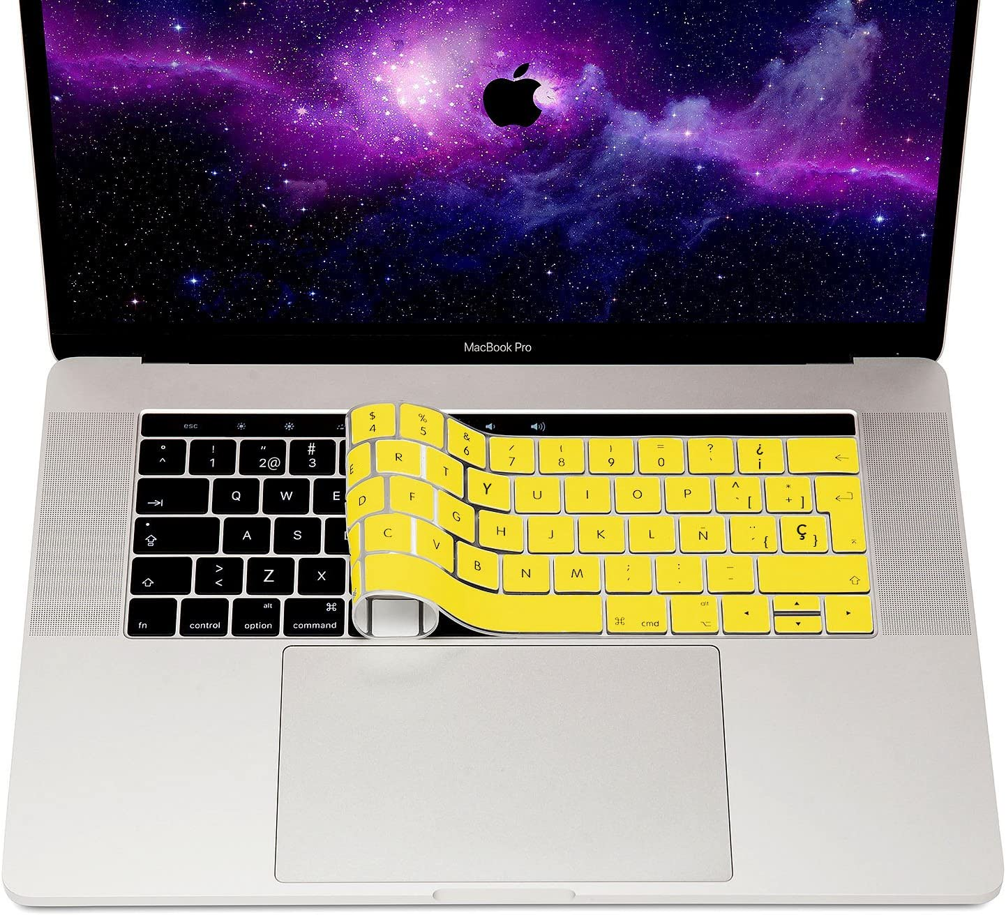 MyGadget Funda Teclado para Apple MacBook Nuevo Pro 13 15 - Skin Protector Transparente Ultra Delgado Keyboard Cover de Silicona Desde 2016, Touchbar