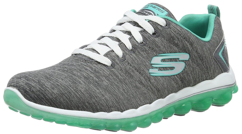 Skechers Sport Women's Skech Air Run High Fashion Sneaker B01HDTCY4A 6.5 M US|Charcoal/Green