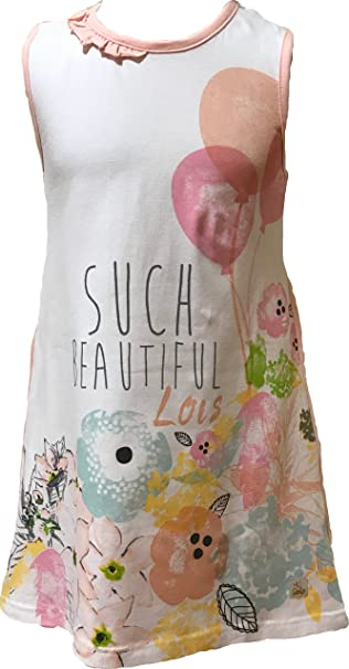 Lois 51099. vestido blanco rosa palo talla 4 anos …