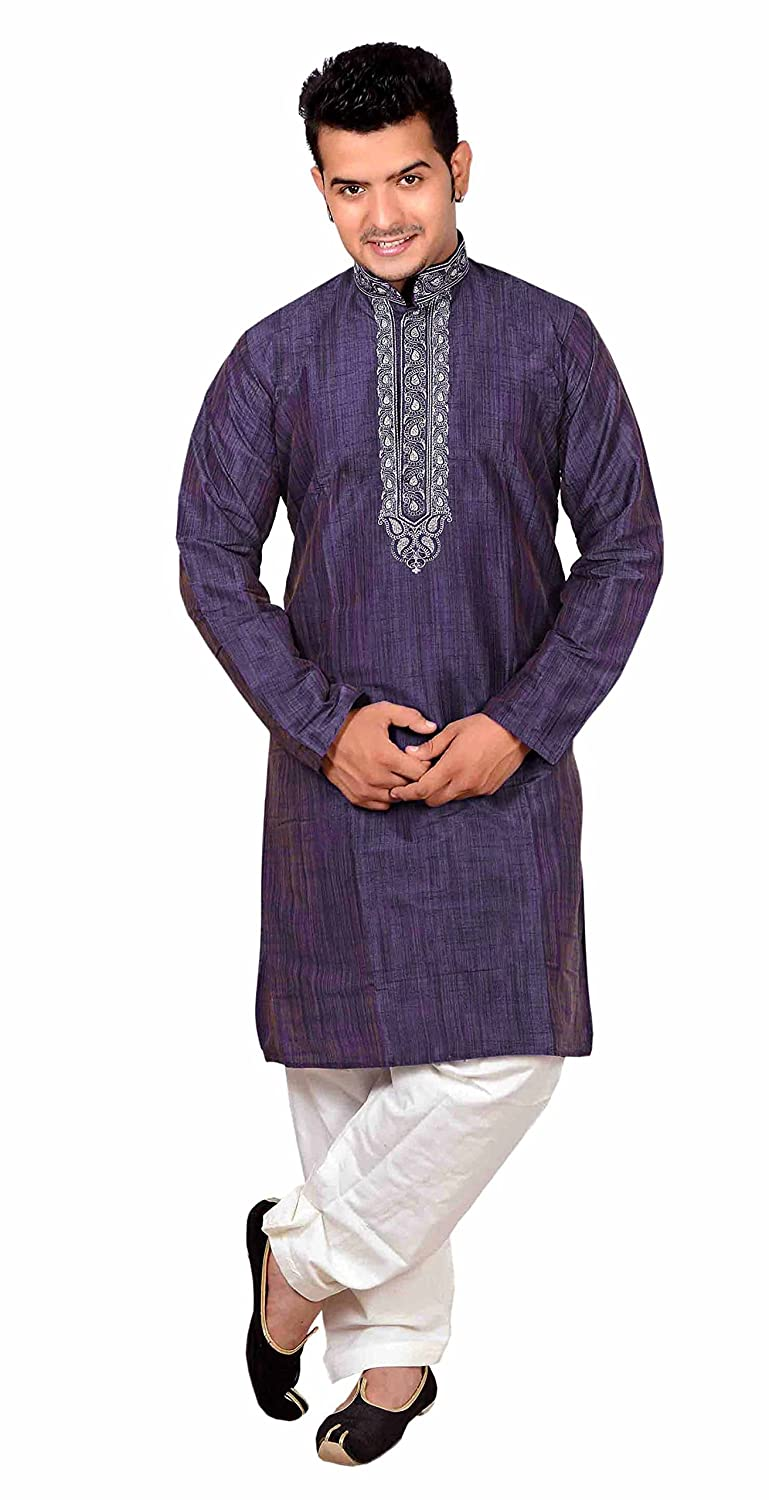 Other Men's Clothing Clothing, Shoes & Accessories Indian Ethnic Traditional Fancy Party Were Kamez Top Blouse Kurta Mens Dress