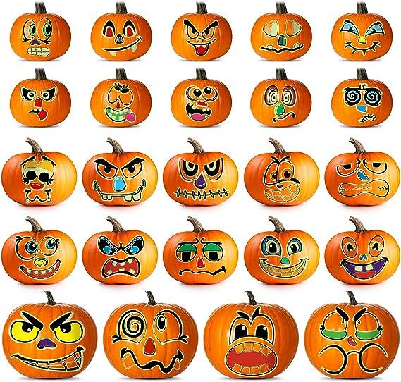 12 Pack 3D Bats Wall Decals 40 Style Pumpkin Decorating Stickers Pumpkin Face Jack-O-Lantern Craft Kit Stickers Halloween Trick or Treat Pumpkin Decorations Halloween Party Favors for Kids