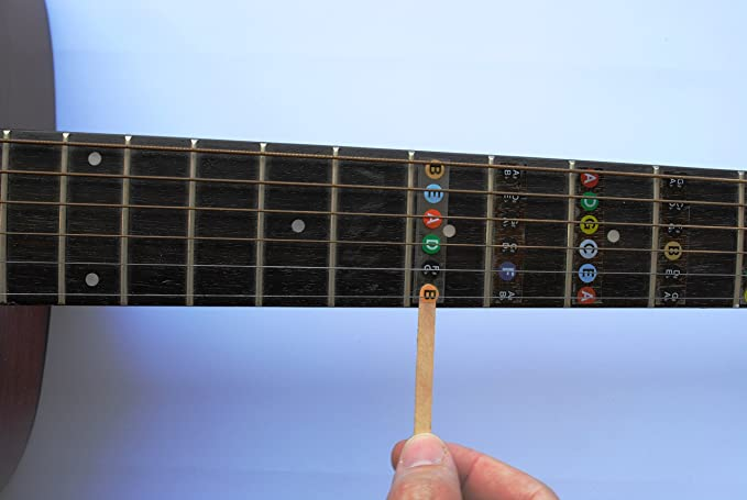 Amazon.com: Guitar Fret Stickers- Color Coded- for Fretboard Note ...
