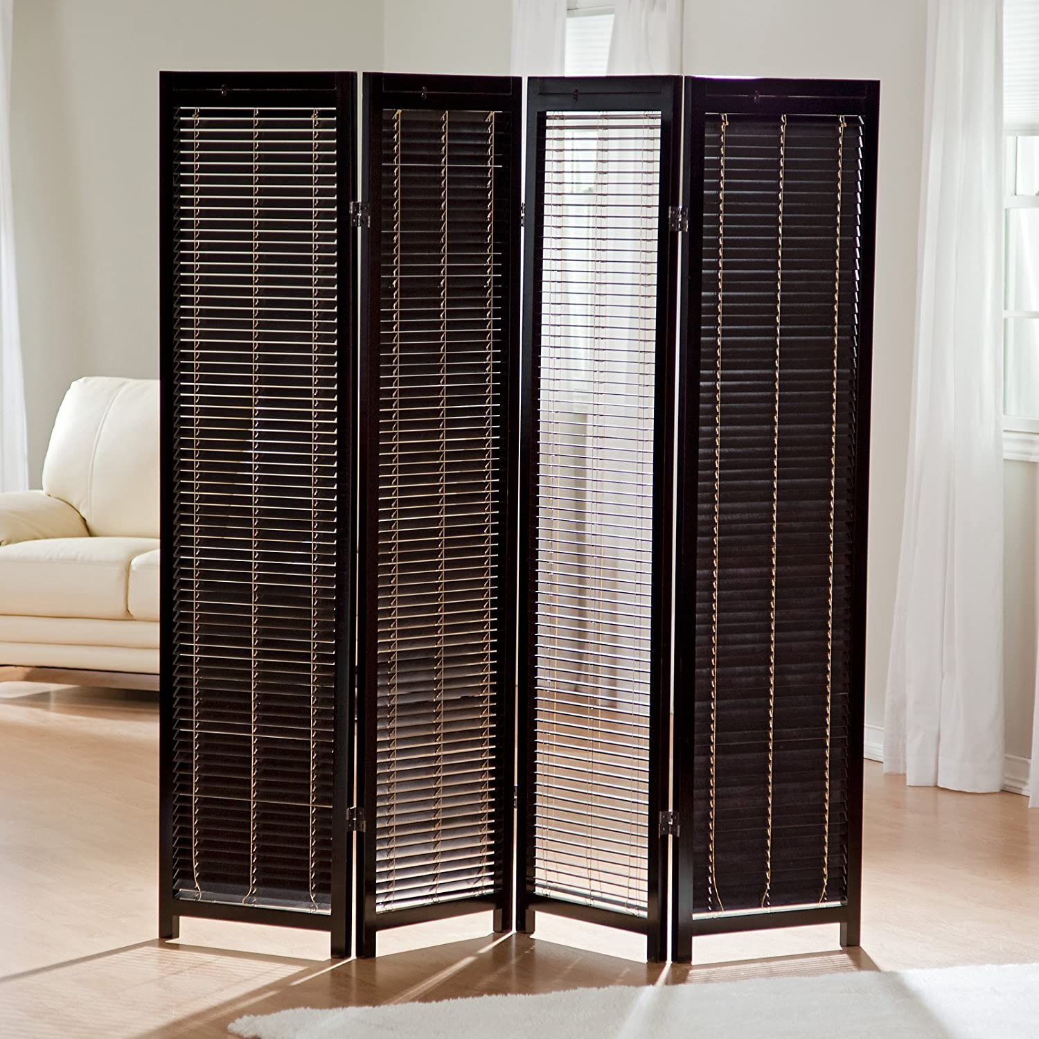amazoncom tranquility wooden shutter room divider industrial  - amazoncom tranquility wooden shutter room divider industrial  scientific