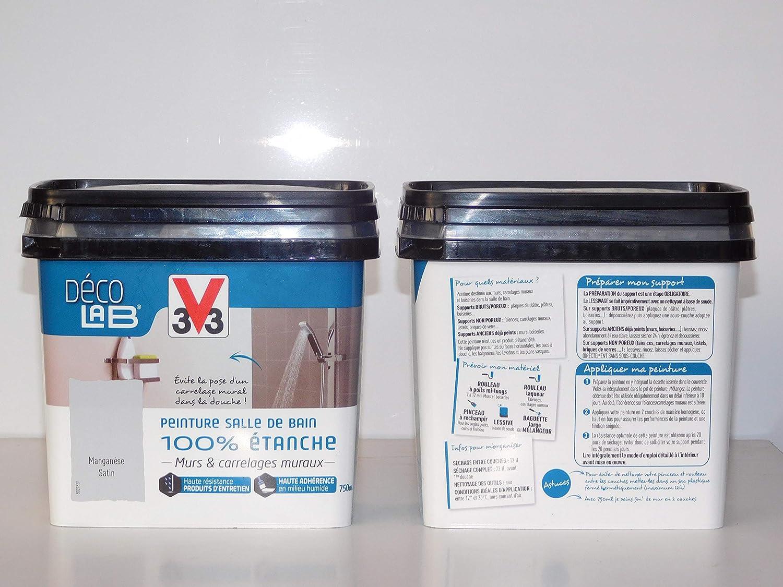 V33 D/é co LAB Peinture Salle de bain 100/% Etanche Mangan/è se ...