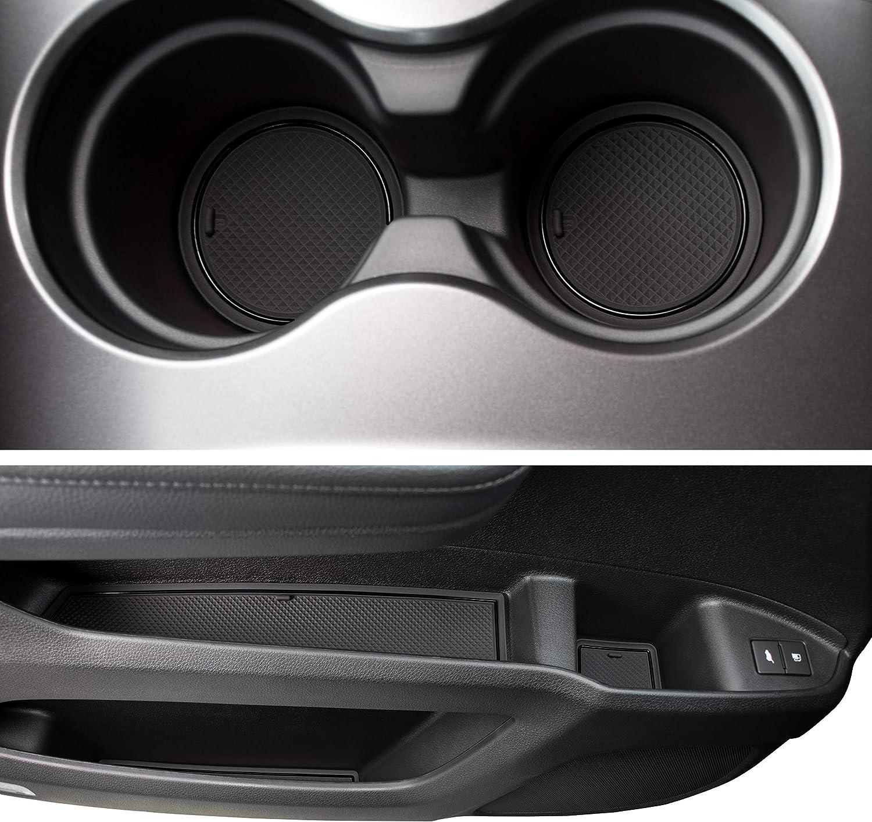 Premium Cup Holder and Door Pocket Inserts 28-pc Set Console CupHolderHero for Honda Passport 2019-2020 Custom Liner Accessories Solid Black