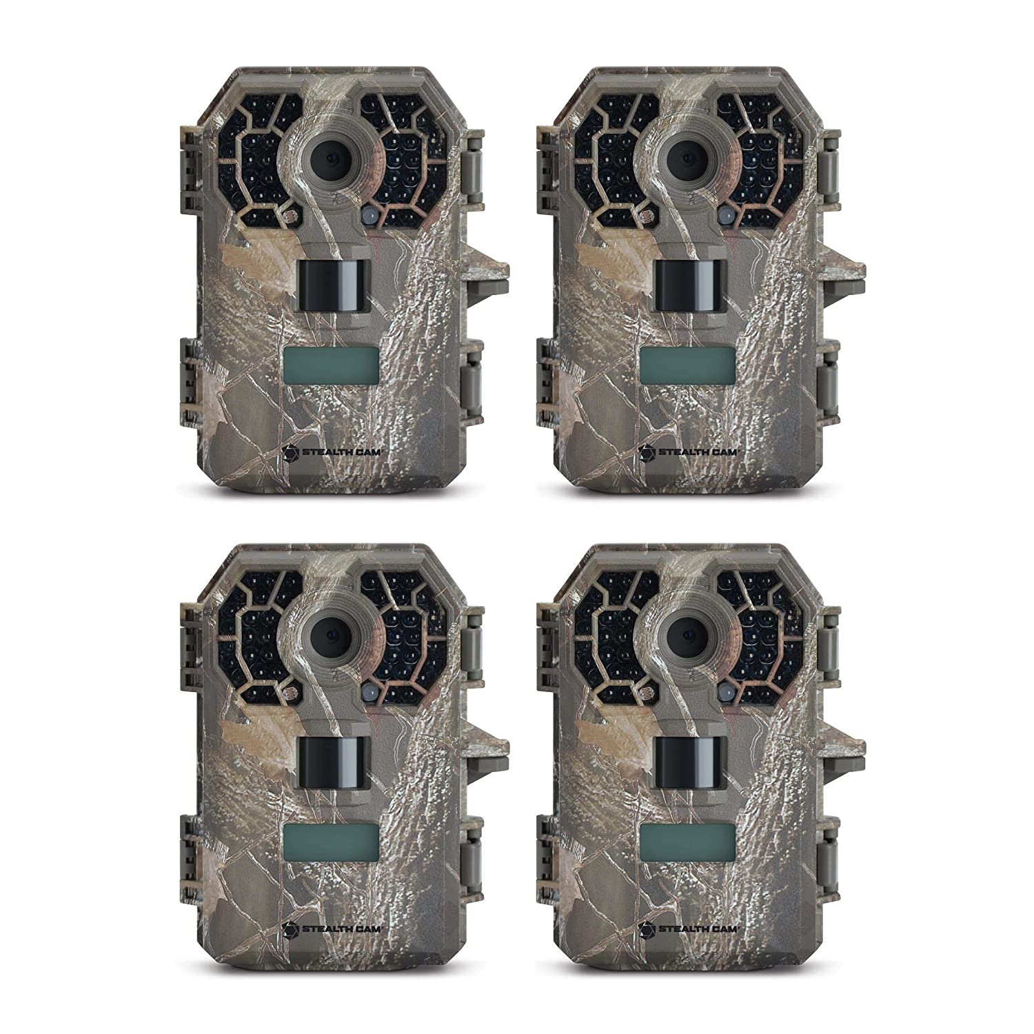 Stealth Cam G42NG No-Glo Trail Game Camera 4- Pack Bundle , Black IR Infrared Flash, 100 ft Range, Records HD Video