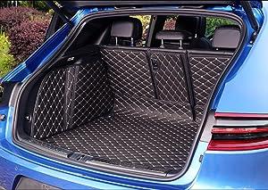 Worth-Mats Full Coverage Waterproof Trunk Mat Tray for Porsche Macan-Black