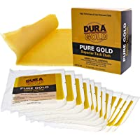 Dura-Gold - Pure Gold Superior Tack Cloths - Tack Rags (Box of 12) - Woodworking and Painters Professional Grade - Removes Dust, Sanding Particles, Cleans Surfaces - Wax and Silicone Free, Anti-Static