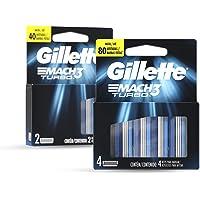 Gillette Mach3 Turbo Cartuchos Para Afeitar 6 Unidades