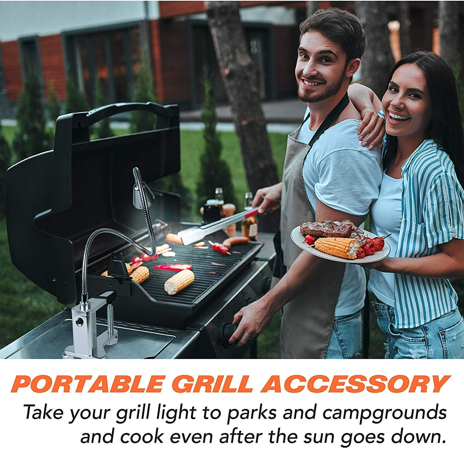 Grill Lights for BBQ ONETOPU Clamp and Grilling Accessories w// 3 Heavy Duty Magnets Magnetic Grill Light Cordless