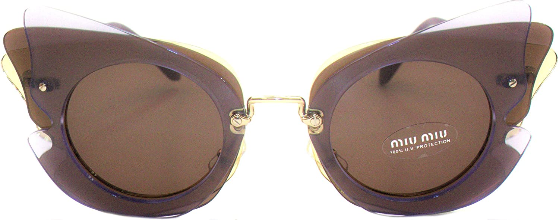 d0580b035b8 Amazon.com  Miu Miu Women s 0MU 02SS Lilac Yellow Brown Sunglasses  Clothing