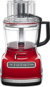 KitchenAid KFP1133ER 11-Cup Food Processor with Exact Slice System - Empire Red (Renewed)