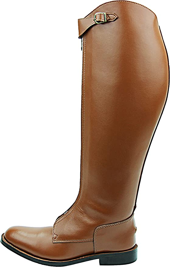 Hispar Mens Man Invader-1 Polo Players Boots Tall Knee High Leather  Equestrian Tan Shoes Equestrian Sport Boots