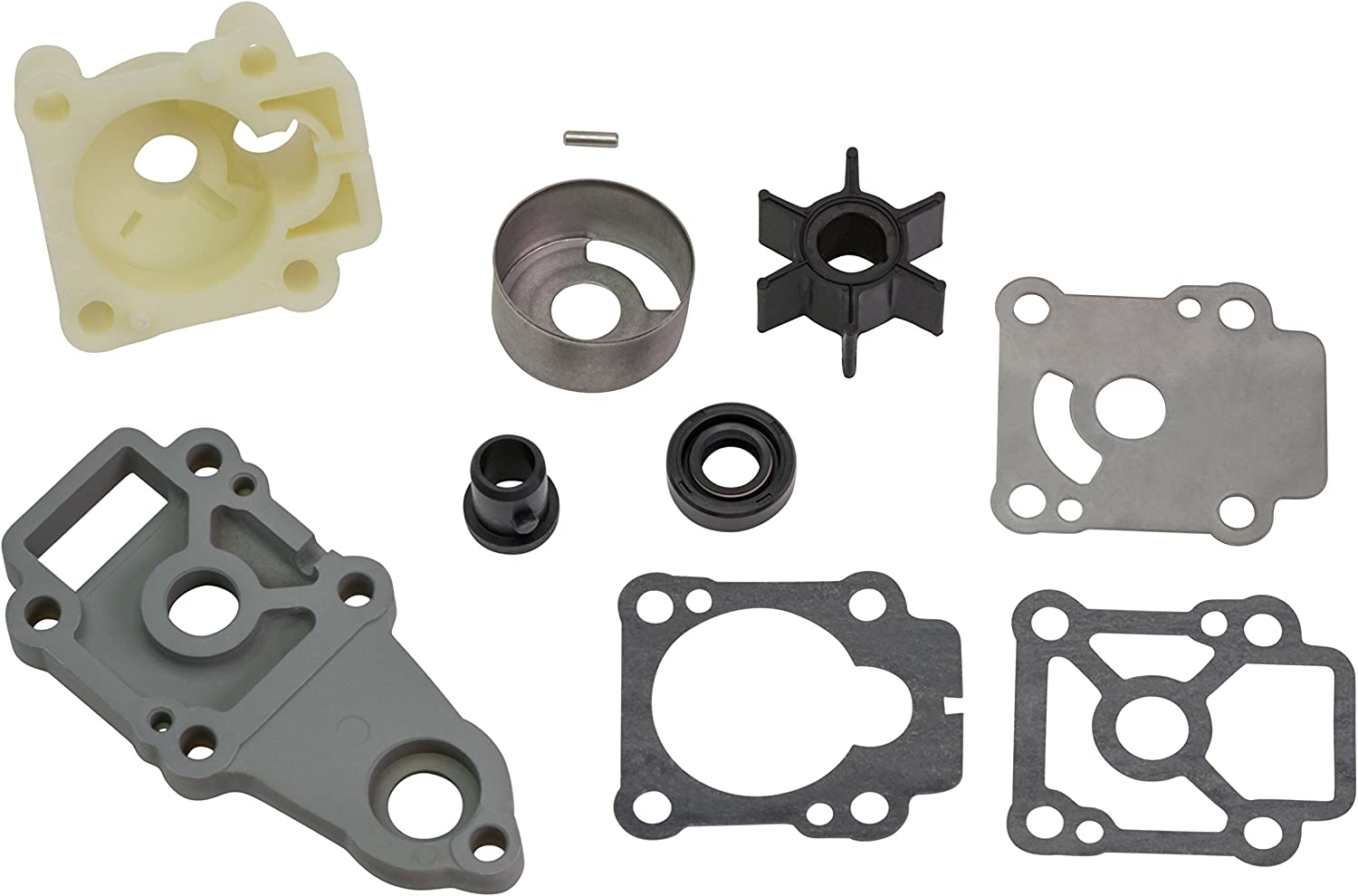 Quicksilver 803750A03 Replacement Water Pump Kit - Mercury and Mariner 8 through 9.9 Horsepower 4-stroke Outboards