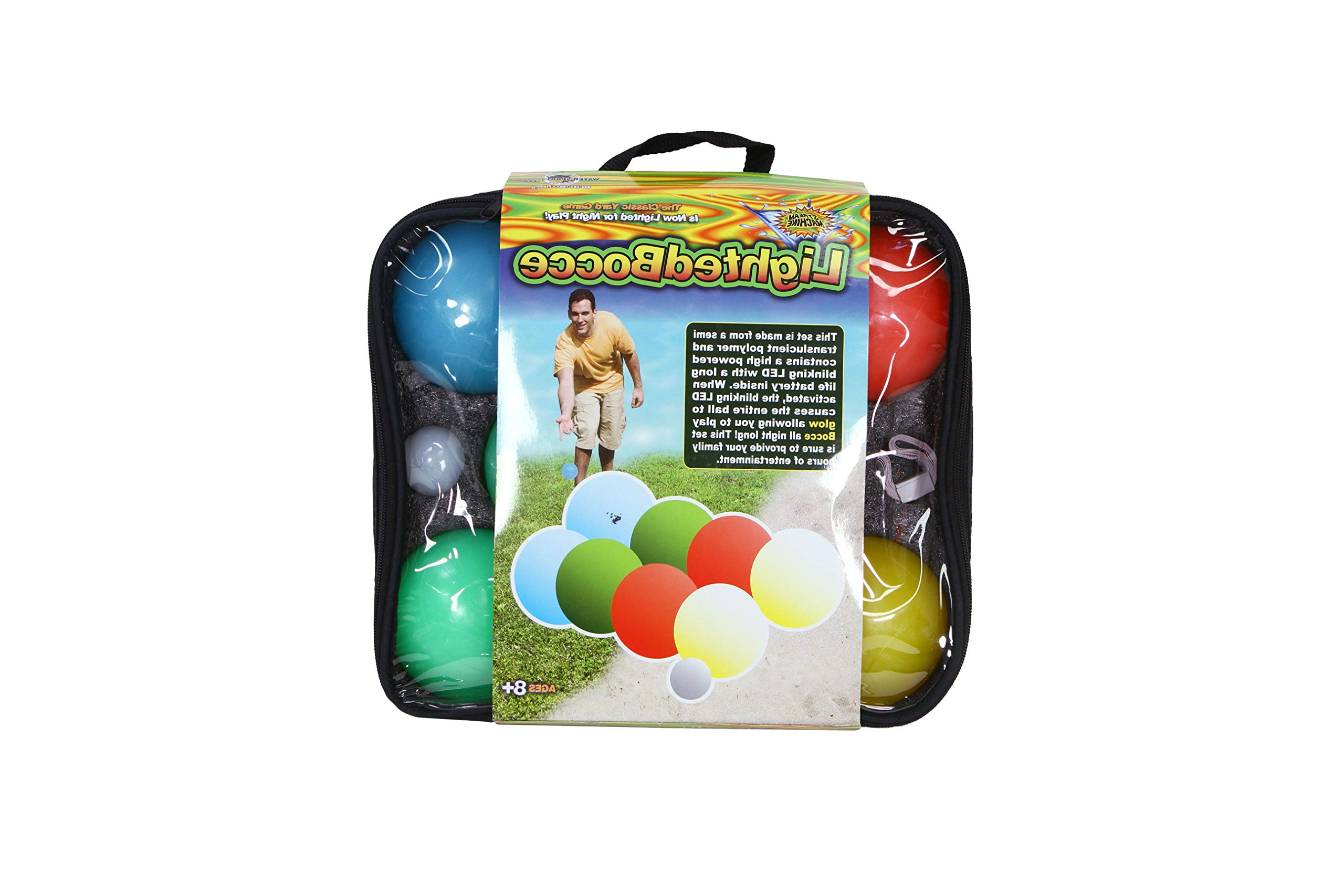 Aromzen Lighted Bocce Ball Bocce Set