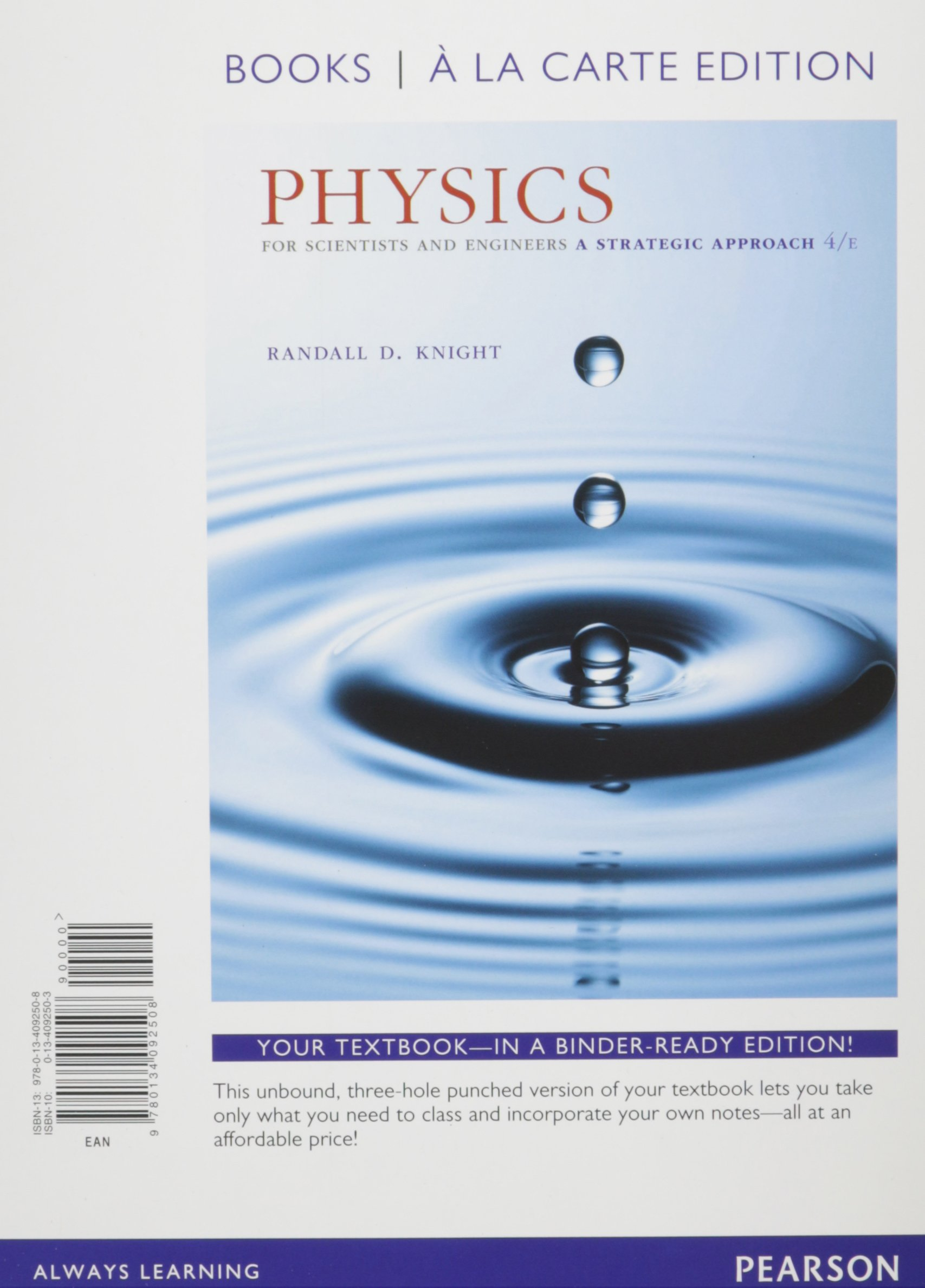 Physics for Scientists and Engineers, Books a la Carte Plus  Masteringphysics with Etext -- Access Card Package PDF Randall D Knight