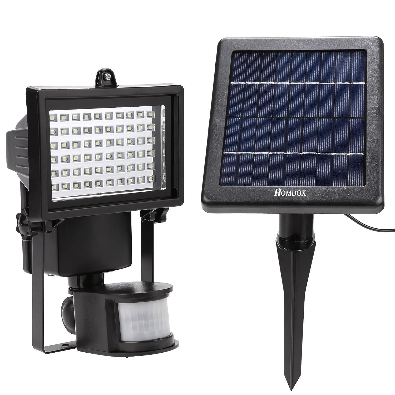 60LED Solarleuchte Wandleuchte Solar Flutlicht Strahler Fluter Zaun Garage Licht