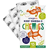 Omega 3 Fish Oil Gummies - Ultra-High DHA Chewable Gel Gummy - Omega 3 for Kids Supports Brain, Eyes & Bones - Sugar…
