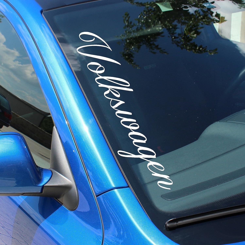 Pegatina autoadhesiva para parabrisas con el texto «Volkswagen» F58 de Finest-Folia R 6C 6R 9N3 GTI: Amazon.es: Coche y moto