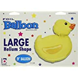 "Betallic Rubber Ducky Shape Foil, 29"", Yellow"